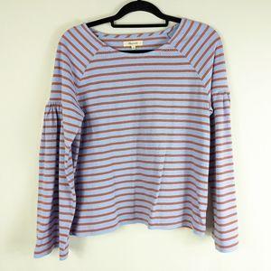Madewell Striped Long Sleeve Sweater Top